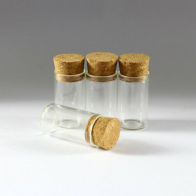 5pcs 8ml Empty Sample Vials Clear Glass Bottles with Corks Jars Small bottle