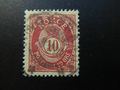1893/98 - Norway - Post Horn And Crown - Scott 51A A10 10O