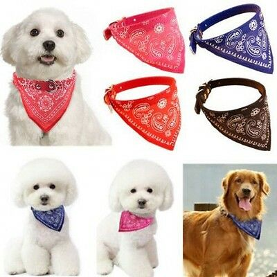 1pc Adjustable Pet Dog Puppy Cat Neck Scarf Bandana with Collar Neckerchief/New