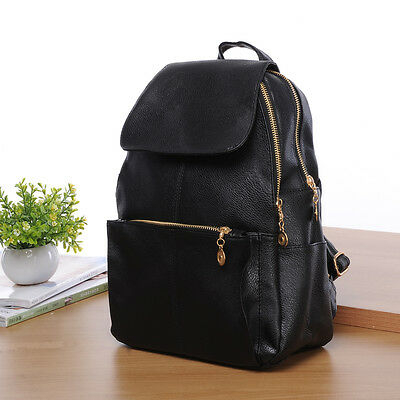 New Women's Backpack Travel PU Leather Handbag Rucksack Shoulder ...