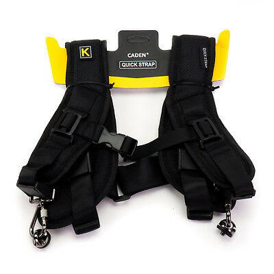 Caden 'K' Quick Double Strap Shoulder Sling for 2x Camera DSLR Canon Nikon Sony