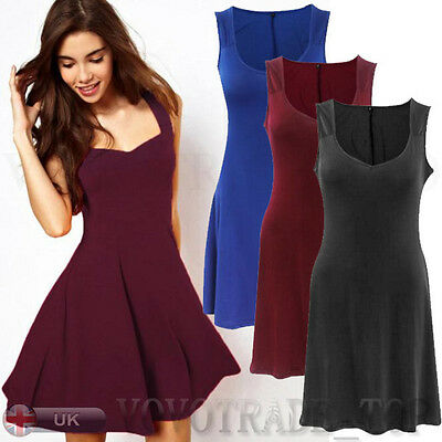 Fashion Women Sexy Sleeveless Gown Party Dress Ladies Summer Bodycon Mini Dress