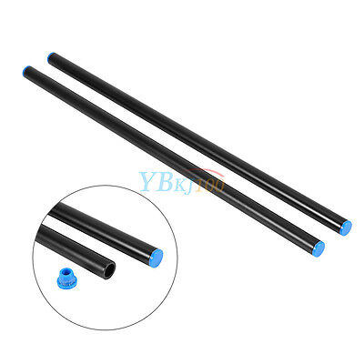 2pcs 40cm 15mm Aluminum Rail Rod For DSLR Camera Cage Rig Rail System