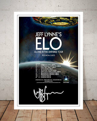 Jeff Lynne Elo Alone In The Universe 2016 Concert Flyer Signed Photo Print