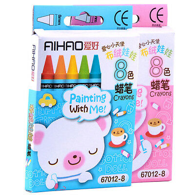 8 Colours/Set No-Toxic Wax Crayons Children Kids Colorful Painting Stick Gift