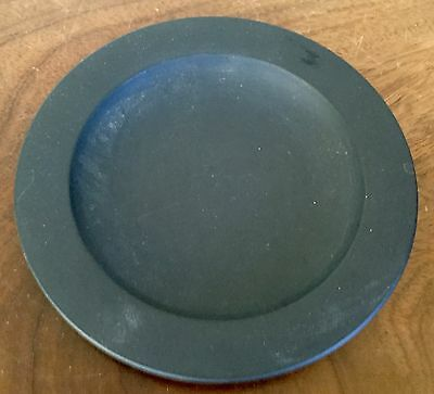 Antique Wedgwood Pottery Black Basalt Plate 19th century Porcelain