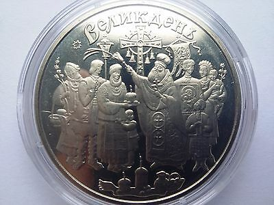 "Ukraine,5 hryven coin ""Feast of the Resurrection ""2003 year"