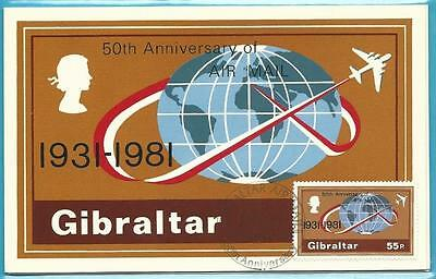 Gibraltar Maximumkarte Set Nr.2 aus 1981! 3 Karten AIR MAIL!