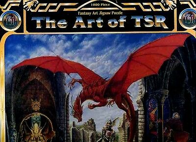 THE ART OF TSR FANTASY PUZZLE SEALED KINGDOM OF ADVENTURE Dungeons Dragons D&D