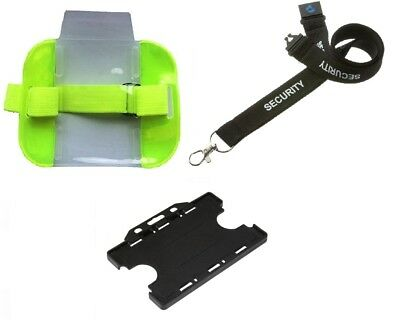 Security Reflective Armband for Sia Card + Security Lanyard + Card Double Holder