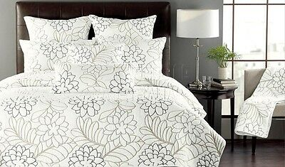 Luxury 100%Cotton Coverlet / Bedspread Set King & Super King Size Bed 230x270cm