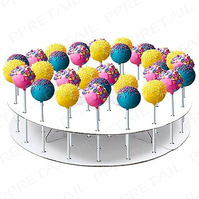 44 Hole White Cake Pop Display Stand +COOLING RACK+ Decorating Party Tableware