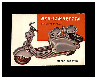 1954 World on Wheels #143 Nsu-Lambretta *ExMt* *51892*