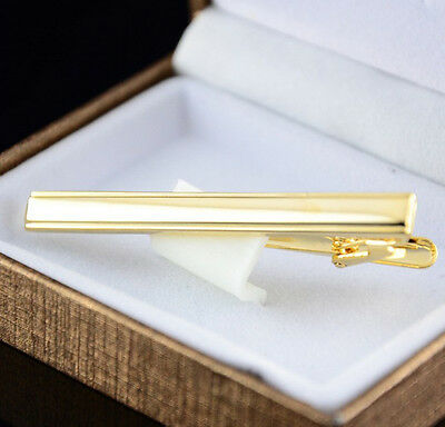 Delicate Metal Gold Plated Tone Simple Necktie Tie Pin Bar Clasp Clip  new