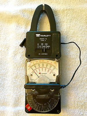 Triplett 310 Type 4 Hand-Sized Vom Model 10 Type 2 Clamp-On Amp Meter Adapter