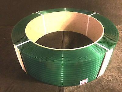 """Polyester Plastic Strapping - 1/2""""X.020""""X7200' - Clean Surplus Stock!"""