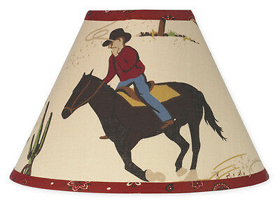 New Sweet Jojo Designs Lamp Shade for Wild Western Horse Cowboy Baby Kid Bedding