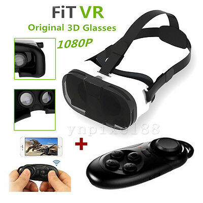 FIIT VR 2N Cardboard 3D Glasses Headset +Control For Samsung Galaxy S4 S5 S6 S7