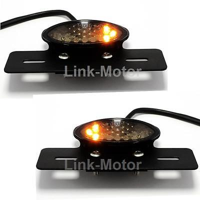 Cafe Racer Bobber Motorcycle Stop & Tail Rear Brake Turn Signals Light LED LAMP