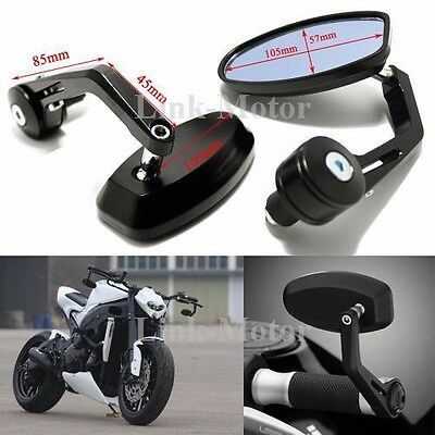 """Motorcycle 7/8"""" Handlebar End Mirrors For Ducati Monster 696 796 1100 1200 821 S"""