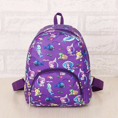 Waterproof bag School Bag Backpack Kids Children Girl Mermaid Princess canvas