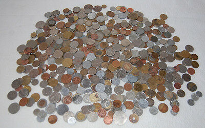 Three (3) Pound Lot Of World Coins Many Countries 300 To 400 Coins Or More