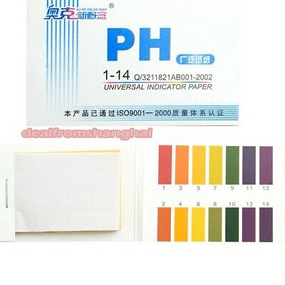 80 PIÈCES PH 1-14 Test Bande Papier Universel Aquarium Eau Tournesol Urine