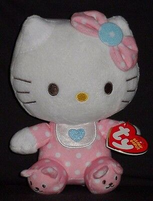 TY HELLO KITTY (PINK BABY with RATTLE) BEANIE BABY - MINT with MINT TAG