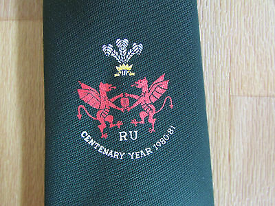 WALES / Welsh Rugby Union CENTENARY Year 1980 - 81 Logo Tie - SEE PICTURES