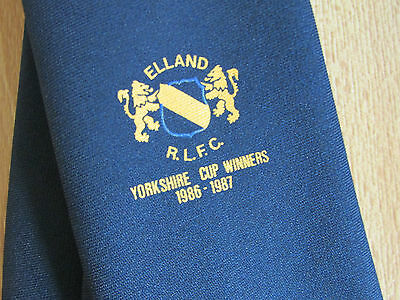 ELLAND RLFC Yorkshire Cup Winners 1986 - 1987 RUGBY League Tie - SEE PICTURES