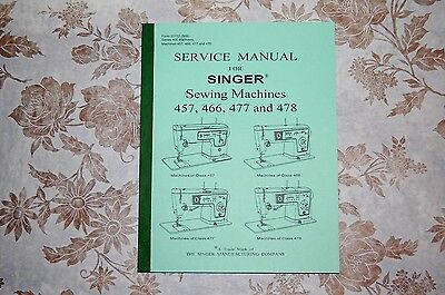 Complete 98-Page Service Manual for Singer 457, 466, 477 and 478 Sewing Machines