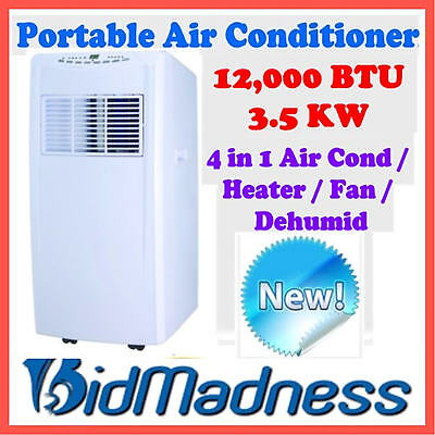Reverse Cycle 12000Btu 3.5Kw Portable Air Conditioner Humidifier Heating Fan