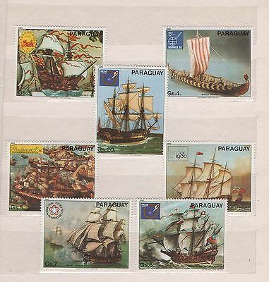 Paraguay  stamps MNH ships - paintings  - 0149