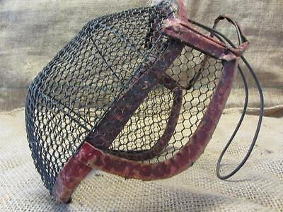 Vintage Wire Mesh Fencing Mask > Antique Bee Keeper Mask Rare Design 9599