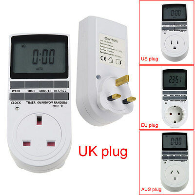 New Programmable Digital Electronic Plug-in 12/24 Hour Timer Switch Plug Manager
