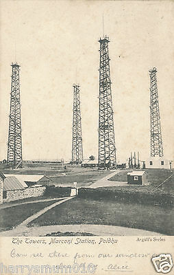 Postcard The towers Marconi station Poldhu 1905 (3)