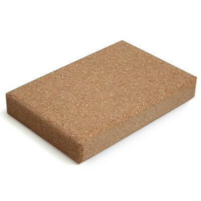 Lotus Design Natural Cork Yoga Exercise Fitness Prop Block Board Rounded Edges