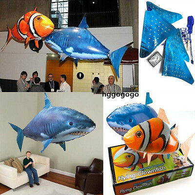 HOT Air Swimmer Remote Control RC Flying Inflatable Fish Shark Blimp Balloon TOY