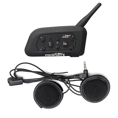 Motocicleta Bluetooth Intercomunicador Moto Auriculares Interfono Headset 1200M