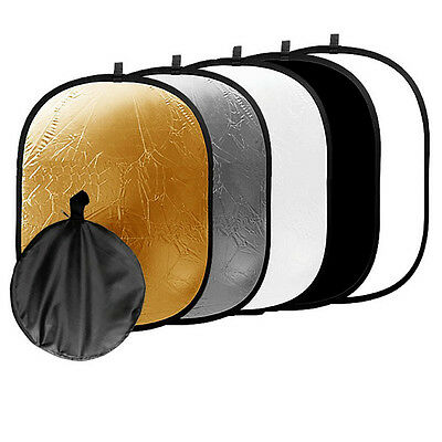 """32x48""""  5-in-1 Collapsible Multi Photo Light Reflector Kit for Photography Video"""