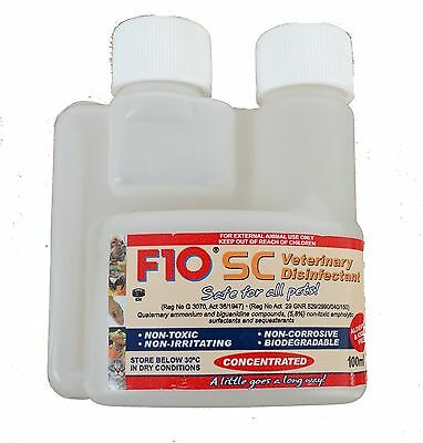 F10SC Super Concentrate Disinfectant Birds Reptile Cages Cleaner (Various Sizes)
