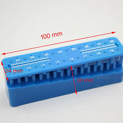 1X Dental Dentist Autoclavable Endodontic File Holder Ruler Endo Measuring Block
