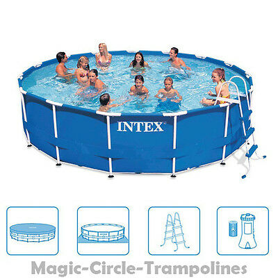 Intex metal frame swimming pool schwimmbecken schwimmbad for Stahlwand pool 457x122
