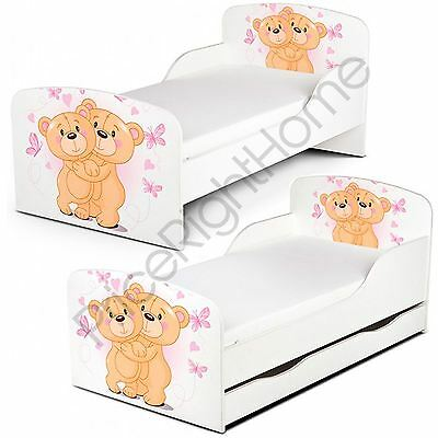 Pricerighthome Teddy Bear Toddler Bed With Or Without Storage + Mattress Options