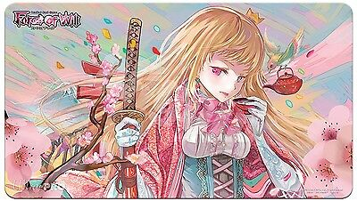 Force of Will FOW OFFICIAL PLAYMAT HANAMI LIMITED EDITION 2016 RARE