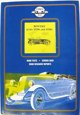 Rovers Of The 1920S And 1930S - Colin Pitt Car Book