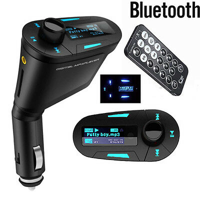 Wireless Bluetooth FM Transmitter Car MP3 Radio Player USB Charger For iPhone