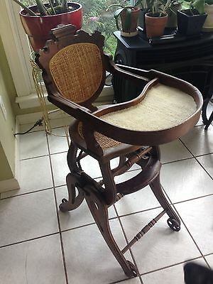 Antique Rare Convertible High Chair