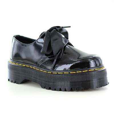 Dr Martens Holly Womens Patent Leather Shoes Black