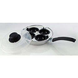 Pendeford Value Plus Collection 4 Cup Egg Poacher 20cm + Tape Measure
